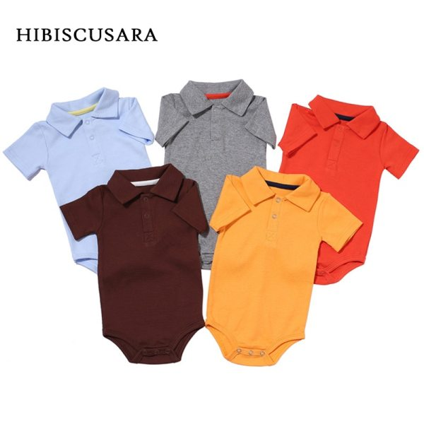 Summer Baby Boy Girl Rompers Turn down Collar Infant Newborn Cotton Clothes Jumpsuit For 0 2Y Summer Baby Boy Girl Rompers Turn-down Collar Infant Newborn Cotton Clothes Jumpsuit For 0-2Y Toddlers Bebe Outfits