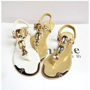 Woman Sandals 2019 fashion high quality Rhinestone women flip flops shoes ladies casual summer beach shoes Innrech Market.com