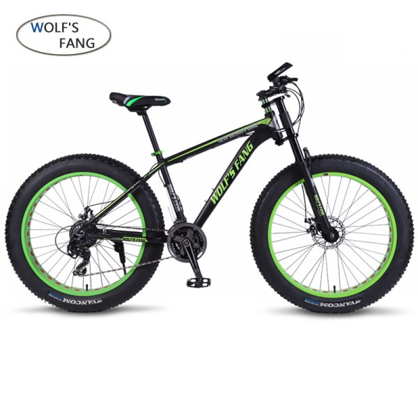 wolf s fang Bicycle 7 21 24 Speed Mountain Bike 26 4 0 Fat bike bicicleta 1 wolf's fang Bicycle 7/21/24 Speed Mountain Bike 26*4.0 Fat bike bicicleta  mtb  Road Folding bike Men Women free shipping