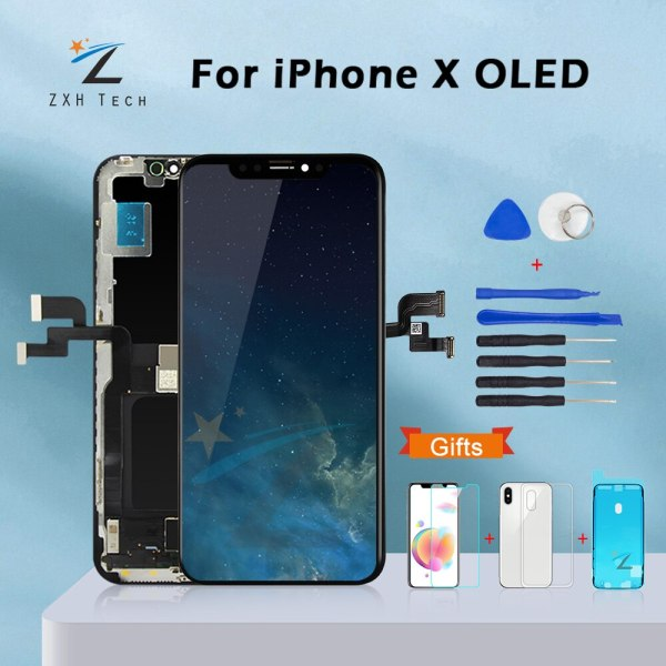 AAA For iPhone X OLED With 3D Touch Digitizer Assembly No Dead Pixel LCD Screen Replacement AAA+++ For iPhone X OLED With 3D Touch Digitizer Assembly No Dead Pixel LCD Screen Replacement Display For iPhoneX LCD with Gift