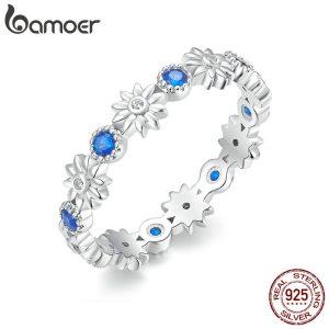 BAMOER New Arrival Wholesale Cheap Popular Flower Finger 925 Sterling Silver Ring Fashion Wedding Jewelry 3 Innrech Market.com