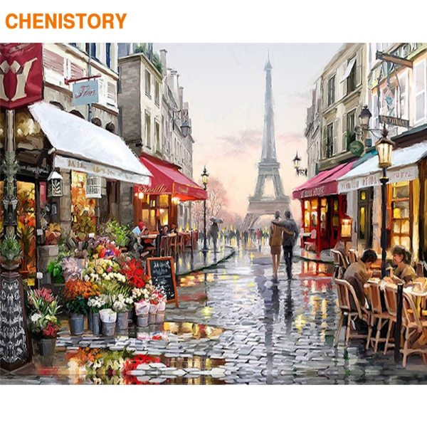 Frameless Europe City Street DIY Painting By Numbers Home Decoration Handpainted Abstract Oil Painting For Living Frameless Europe City Street DIY Painting By Numbers Home Decoration Handpainted Abstract Oil Painting For Living Room Artwork