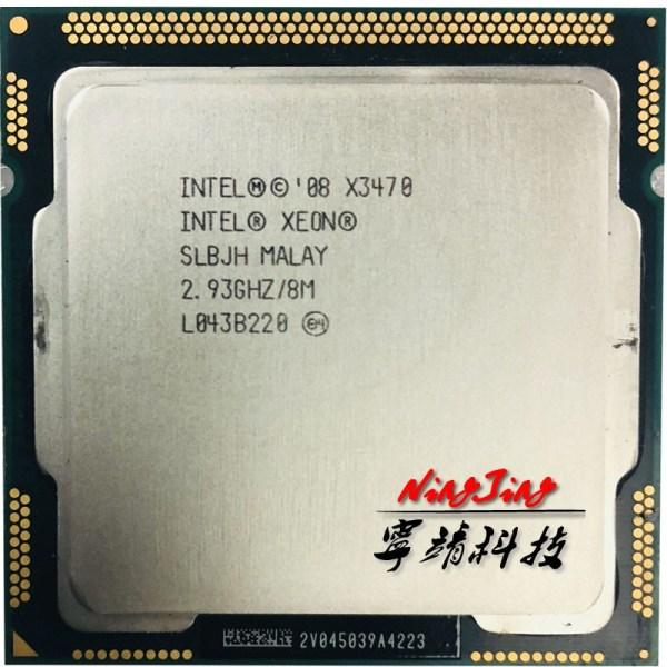 Intel Xeon X3470 2 933 GHz Quad Core Eight Thread 95W CPU Processor 8M 95W LGA Intel Xeon X3470 2.933 GHz Quad-Core Eight-Thread 95W CPU Processor 8M 95W LGA 1156