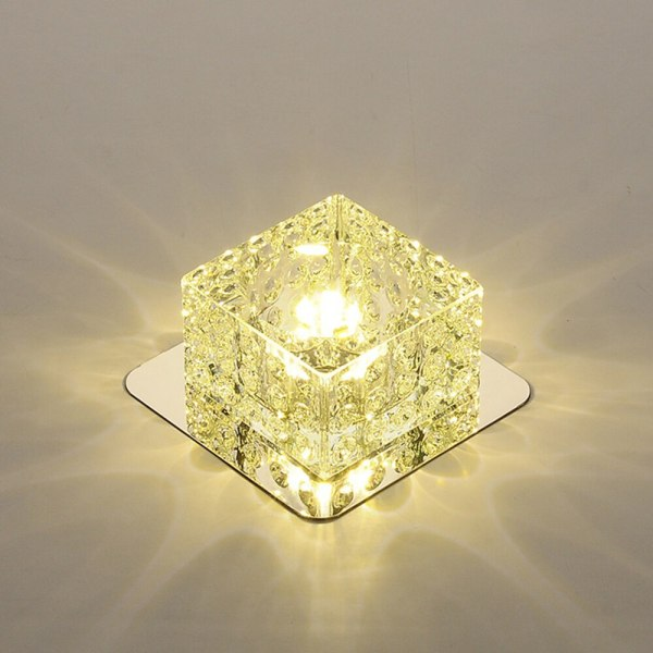 LED Ceiling Light Surface Mounted Crystal Aisle Lamp Lustre Modern Ceiling Lamp For Living Room Indoor 2 LED Ceiling Lights | Light Surface | Surface Mounted Crystal Aisle Lamp Lustre Modern Ceiling Lamp For Living Room Indoor Bedroom Corridor Entrance Power 3W