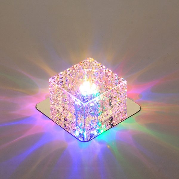 LED Ceiling Light Surface Mounted Crystal Aisle Lamp Lustre Modern Ceiling Lamp For Living Room Indoor LED Ceiling Lights | Light Surface | Surface Mounted Crystal Aisle Lamp Lustre Modern Ceiling Lamp For Living Room Indoor Bedroom Corridor Entrance Power 3W