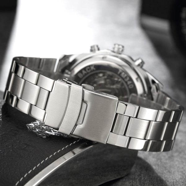 Luxury Silver Automatic Mechanical Watches for Men Skeleton Stainless Steel Self wind Wrist Watch Men Clock 2 Luxury Silver Automatic Mechanical Watches for Men Skeleton Stainless Steel Self-wind Wrist Watch Men Clock relogio masculino