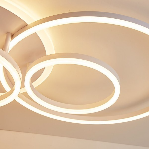 NEO Gleam 2 3 5 6 Circle Rings Modern led ceiling Lights For living Room Bedroom 4 Circular Ceiling Light | Circular Light Bulb | NEO Gleam 2/3/5/6 Circle Rings Modern led ceiling Lights For living Room Bedroom Study Room White/Brown Color ceiling Lamp led circle light, circle light, ring ceiling light