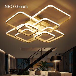 NEO Gleam Rectangle Acrylic Aluminum Modern Led ceiling lights for living room bedroom AC85 265V White Innrech Market.com