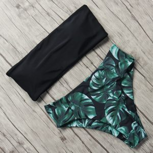 Print Swimwear Women Swimsuit High Waist Brazilian Bikini 2019 Sexy Off Shoulder Bikinis Set Beachwear Maillot Innrech Market.com