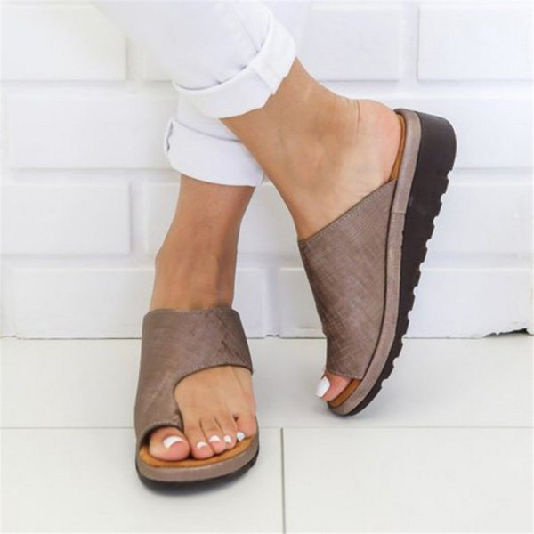 Puimentiua Women slippers Flat Sole Casual Soft Big Toe Foot Sandal Women Shoes Comfy Platform Orthopedic 5 Puimentiua Women slippers Flat Sole Casual Soft Big Toe Foot Sandal Women Shoes Comfy Platform Orthopedic Bunion Corrector