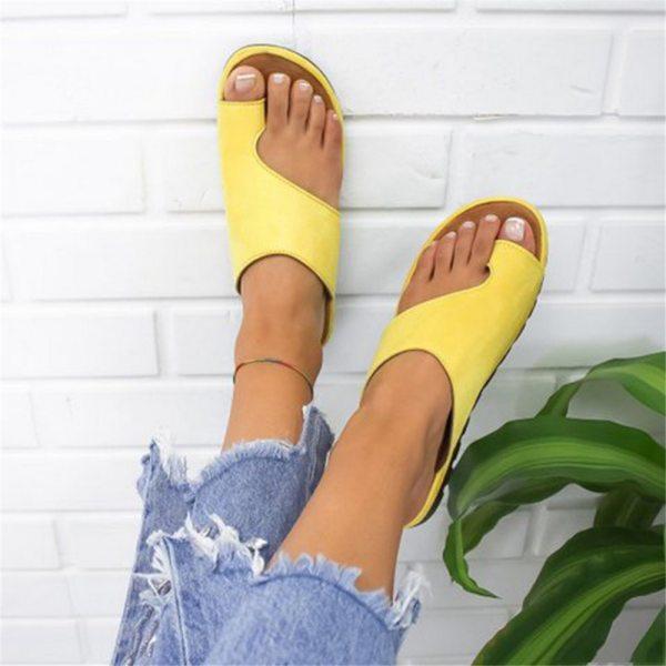 Puimentiua Women slippers Flat Sole Casual Soft Big Toe Foot Sandal Women Shoes Comfy Platform Orthopedic Puimentiua Women slippers Flat Sole Casual Soft Big Toe Foot Sandal Women Shoes Comfy Platform Orthopedic Bunion Corrector