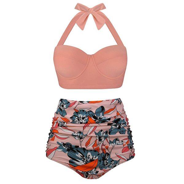 Push Up Women Swimsuit High Waist Bikinis Plus Size Swimwear Vintage Bikini Set Bathing Suits Retro Push Up Women Swimsuit High Waist Bikinis Plus Size Swimwear Vintage Bikini Set Bathing Suits Retro Floral Beach Wear Biquini