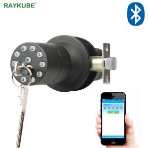 RAYKUBE Knob Digital Code Electronic Door Lock Bluetooth APP Password Keyless Opeing Enter Smart Live Waterproof Innrech Market.com