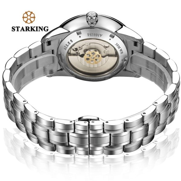 STARKING Mens Clock Automatic Mechanical Watch All Stainless Steel Simple Business Male Watch xfcs Luxury Brand 3 STARKING Mens Clock Automatic Mechanical Watch All Stainless Steel Simple Business Male Watch xfcs Luxury Brand Dress WristWatch