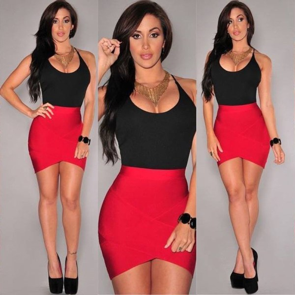 Sexy Patchwork Red Black Bandage Dress Women Strappy Sleeveless Spaghetti Strap Stretch Evening Party Mini Dresses Sexy Patchwork Red Black Bandage Dress Women Strappy Sleeveless Spaghetti Strap Stretch Evening Party Mini Dresses Vestidos