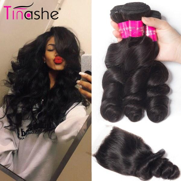 Tinashe Hair Brazilian Hair Weave Bundles With Closure Remy Human Hair 3 Bundles With Closure Loose Tinashe Hair Brazilian Hair Weave Bundles With Closure Remy Human Hair 3 Bundles With Closure Loose Wave Bundles With Closure