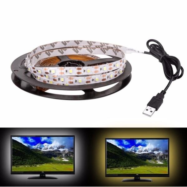 USB LED Strip DC 5V Flexible Light Lamp 60LEDs SMD 2835 50CM 1M 2M 3M 4M 3 USB LED Strip DC 5V Flexible Light Lamp 60LEDs SMD 2835 50CM 1M 2M 3M 4M 5M Mini 3Key Desktop Decor Tape TV Background Lighting