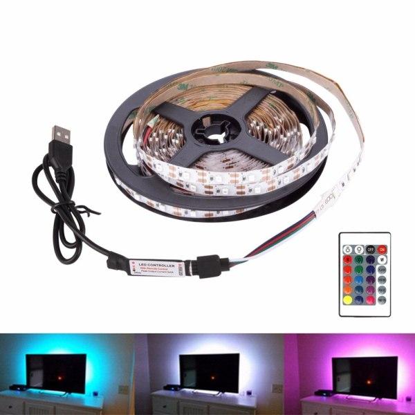 USB LED Strip DC 5V Flexible Light Lamp 60LEDs SMD 2835 50CM 1M 2M 3M 4M USB LED Strip DC 5V Flexible Light Lamp 60LEDs SMD 2835 50CM 1M 2M 3M 4M 5M Mini 3Key Desktop Decor Tape TV Background Lighting