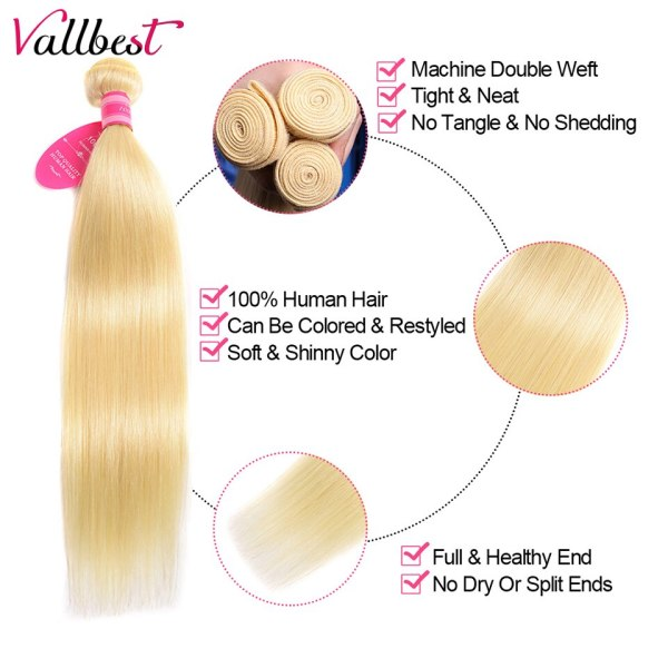 Vallbest 613 Bundles With Frontal Middle Ratio Brazilian Straight Hair 3 Bundles With Closure Remy Blonde 2 Vallbest 613 Bundles With Frontal Middle Ratio Brazilian Straight Hair 3 Bundles With Closure Remy Blonde Bundles With Frontal
