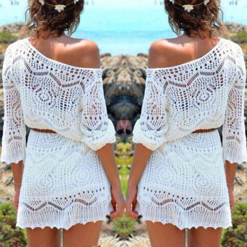 Women Ladies Lace Crochet Casual Dress Summer Clothes Cover Up Swimwear Bathing Suit Summer Swimwear 1 Women Ladies Lace Crochet Casual Dress Summer Clothes Cover Up Swimwear Bathing Suit Summer Swimwear