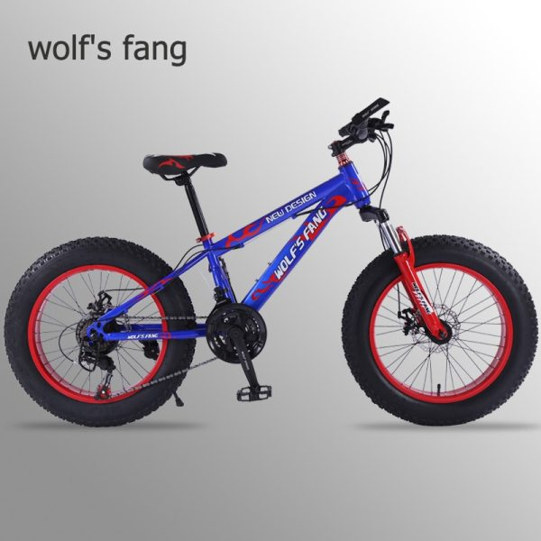 wolf s fang mountain bike 21 speed 2 0 inch bicycle Road bike Fat Bike Mechanical wolf's fang mountain bike 21 speed 2.0 inch bicycle Road bike Fat Bike  Mechanical Disc Brake Women and children  bicycles