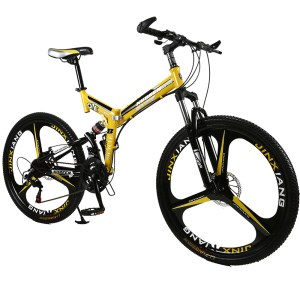 26 inches 21 Speed Folding Bicycle Male Female Student Mountain Bike Double Disc Brake Full Shockingproof Innrech Market.com
