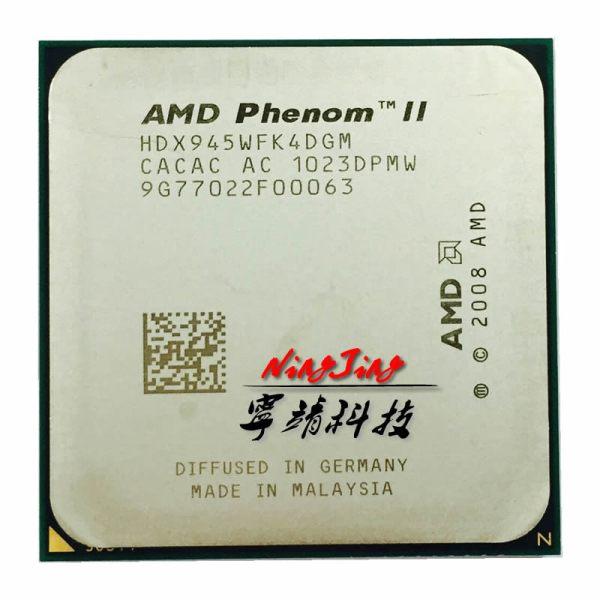 AMD Phenom II X4 945 95W 3 0GHz Quad Core CPU Processor HDX945WFK4DGM Socket AM3 AMD Phenom II X4 945 95W 3.0GHz Quad-Core CPU Processor HDX945WFK4DGM Socket AM3
