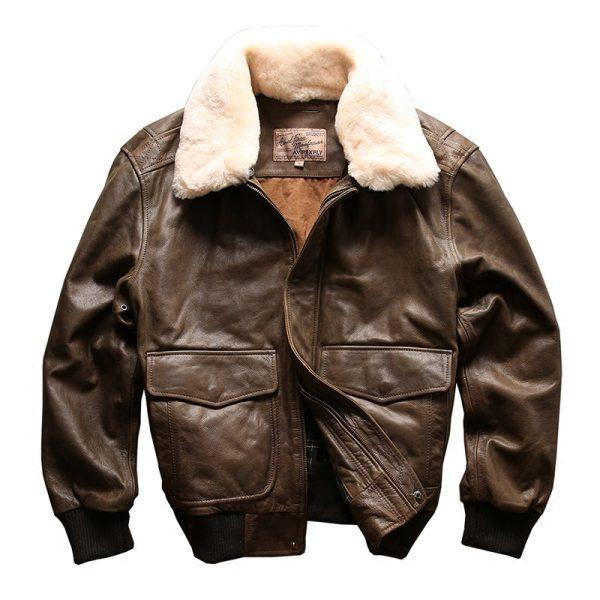 AVIREX FLY 2018 Genuine Leather jacket Men Bomber Jacket Fur Collar Cowskin Short Air Force Flight 4 AVIREX FLY 2018 Genuine Leather jacket Men Bomber Jacket Fur Collar Cowskin Short Air Force Flight Jacke Vintage Winter Coat