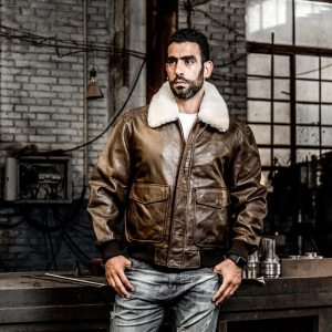 AVIREX FLY 2018 Genuine Leather jacket Men Bomber Jacket Fur Collar Cowskin Short Air Force Flight Innrech Market.com