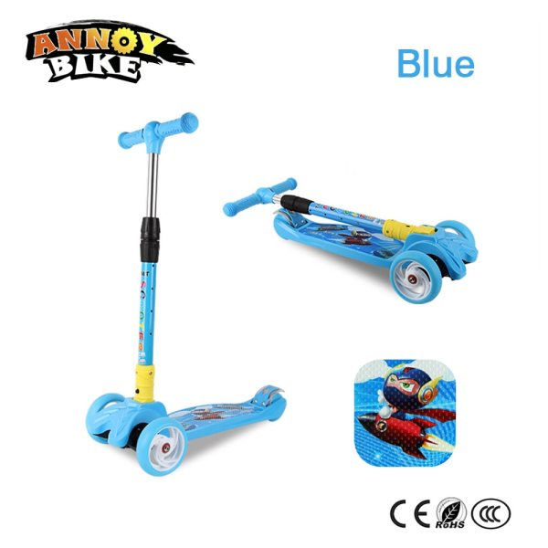 Children Kick Scooter Baby Foldable 3 Wheels LED Outdoor Sport 4 12 Years Old Adjustable Height 5 Children Kick Scooter Baby Foldable 3 Wheels LED Outdoor Sport 4-12 Years Old Adjustable Height Triciclo Bikes Toys Gift For Kid