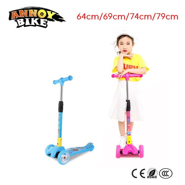 Children Kick Scooter Baby Foldable 3 Wheels LED Outdoor Sport 4 12 Years Old Adjustable Height Children Kick Scooter Baby Foldable 3 Wheels LED Outdoor Sport 4-12 Years Old Adjustable Height Triciclo Bikes Toys Gift For Kid