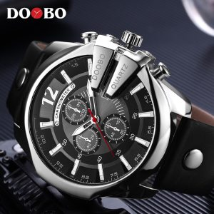 DOOBO Men Watches Top Brand Luxury Gold Male Watch Fashion Leather Strap Casual sport Wristwatch With Innrech Market.com