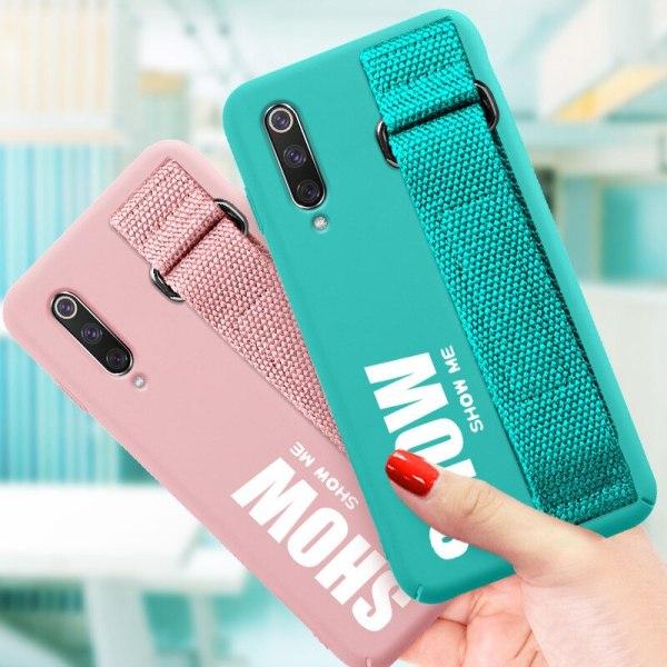 For Xiaomi Mi 9T 9 SE 8 Lite Pro 6 6X A2 A1 Note 10 Max 1 For Xiaomi Mi 9T 9 SE 8 Lite Pro 6 6X A2 A1 Note 10 Max 2 3 Mix 2S CC9 CC9E Redmi K20 Case Silicon Matte Cover Hand Strap Funda