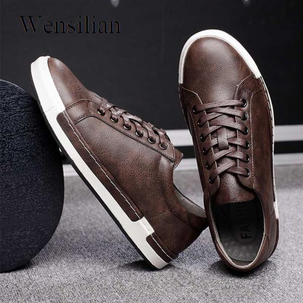 Gentlemans Luxury Leather Shoes Men Sneakers Men Trainers Lace up Flat Driving Shoes Zapatillas Hombre Casual Gentlemans Luxury Leather Shoes Men Sneakers Men Trainers Lace-up Flat Driving Shoes Zapatillas Hombre Casual
