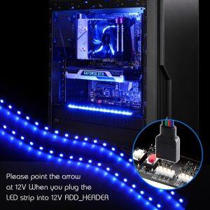 LED Strip Light RGB for 12V Motherboard Control PC Computer case 50CM 1M 2M with 4 Innrech Market.com