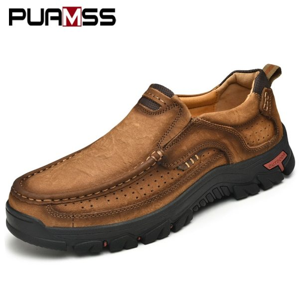 Men Casual Shoes Sneakers 2019 New High Quality Vintage 100 Genuine Leather Shoes Men Cow Leather 1 Men Casual Shoes Sneakers 2019 New High Quality Vintage 100% Genuine Leather Shoes Men Cow Leather Flats Leather Shoes Men