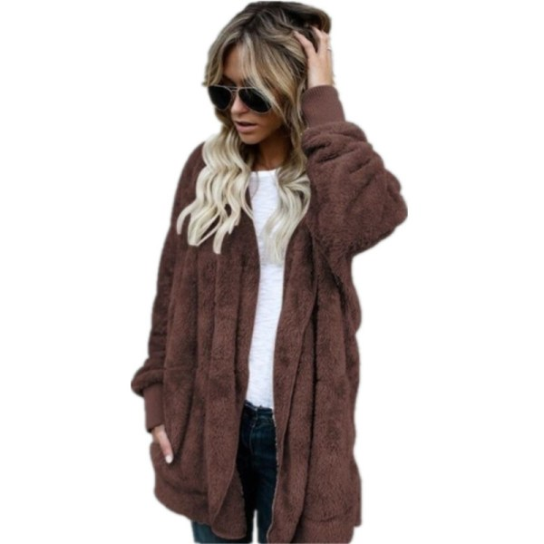 S 5XL Faux Fur Teddy Bear Coat Jacket Women Fashion Open Stitch Winter Hooded Coat Female 1 S-5XL Faux Fur Teddy Bear Coat Jacket Women Fashion Open Stitch Winter Hooded Coat Female Long Sleeve Fuzzy Jacket 2018 Hot New