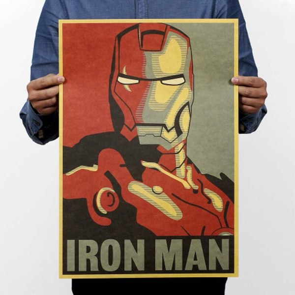 Vintage Movie Posters Retro Iron Man Poster Kraft Paper Drawing Classic Coffee Bar Home Decoration Painting 3 Vintage Movie Posters Retro Iron Man Poster Kraft Paper Drawing Classic Coffee Bar Home Decoration Painting Wall Sticker