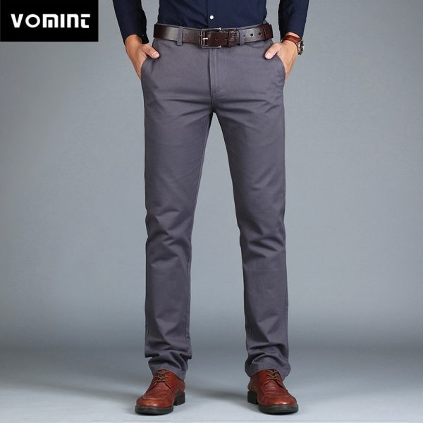 Vomint 2019 New Men s Pants Straight Loose Casual Trousers Large Size Cotton Fashion Men s Vomint 2019 New Men's Pants Straight Loose Casual Trousers Large Size Cotton Fashion Men's Business Suit Pants Green Brown Grey