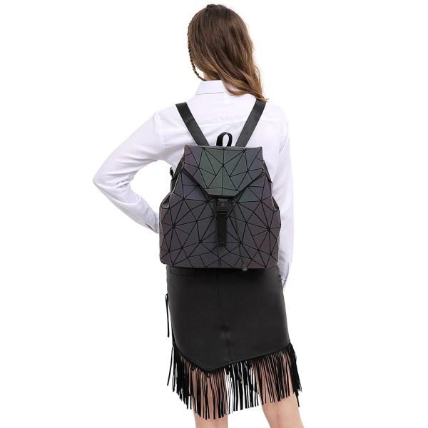 Women Backpack Luminous Geometric Plaid Sequin Female Backpacks For Teenage Girls Bagpack Drawstring Bag Holographic Backpack 5 Women Backpack Luminous Geometric Plaid Sequin Female Backpacks For Teenage Girls Bagpack Drawstring Bag Holographic Backpack