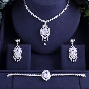jankelly Hotsale African 3 pcs Bridal Jewelry Sets New Fashion Dubai Full Jewelry Set For Women Innrech Market.com