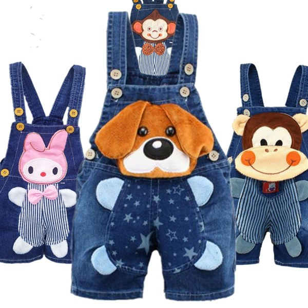 1 2 3 4T Baby Clothing Boys Girls Jeans Overalls Shorts Toddler Kids Denim Rompers Cute 1 2 3 4T Baby Clothing Boys Girls Jeans Overalls Shorts Toddler Kids Denim Rompers Cute Cartoon Bebe Pants Summer Bib Clothes