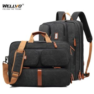 17 3 Vintage Briefcases Men Office Laptop Work Bag Man Convertible Business Multifunction Computer Handbag Travel Innrech Market.com