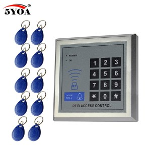 Access Control System RFID Card Keytab Proximity Door Lock Free Shipping 5YOA Brand New Machine Device Innrech Market.com