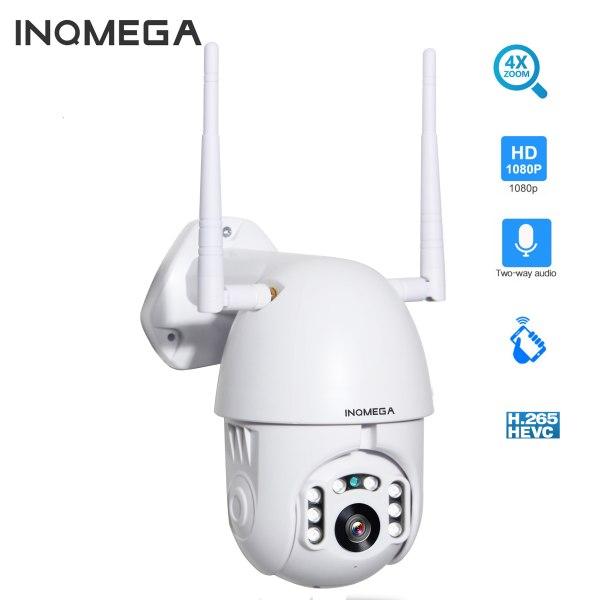 INQMEGA 4X Digital Zoom H 265X 1080p PTZ IP Camera Outdoor Speed Dome CCTV Security Cameras INQMEGA 4X Digital Zoom H.265X 1080p PTZ IP Camera Outdoor Speed Dome CCTV Security Cameras WIFI Exterior IR Home Surveilance