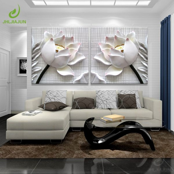 Modular Pictures 3D Art Flower Lotus Poster Wall Art Modular Paintings For Kitchen Wall Pictures Living Modular Pictures 3D Art Flower Lotus Poster Wall Art Modular Paintings For Kitchen Wall Pictures Living Room Canvas Painting