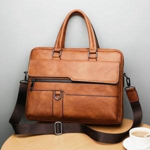 New Men Briefcase Bags Business Leather Bag Shoulder Messenger Bags Work Handbag 14 Inch Laptop Bag Innrech Market.com