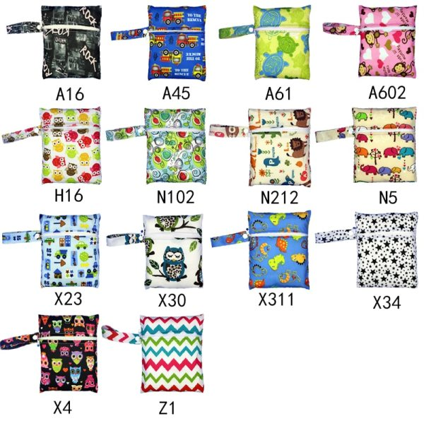 Reusable Nursing Pads Single Zippers Sanitary Pads Washable Wet Bags Nappy Bags Printed Waterproof Wetbag Diaper 3 Reusable Nursing Pads Single Zippers Sanitary Pads Washable Wet Bags Nappy Bags Printed Waterproof Wetbag Diaper Bags 16*20cm