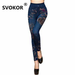 SVOKOR sale seamless super stretch 2018 new hot jeans chrysanthemum printing soft ladies leggings women sports Innrech Market.com