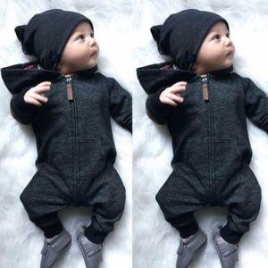 2019 Newborn Kids Baby Boy Baby Girl Warm Infant Zipper Cotton Long Sleeve Romper Jumpsuit Hooded Innrech Market.com